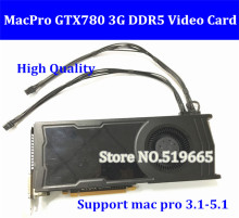 DHL/EMS Free Original GTX780 3G PCI-E Video Graphic Card Graphic card GTX 780 DVI*2 + HDMI + DP connector with power cable
