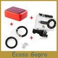 Gopro hero 2 Водонепроницаемый Защитный Жилищно Кейс + Плавающий Поплавок Коробка + Водонепроницаемый Корпус Gopro Крышка Объектива кольцо для Go pro Аксессуары