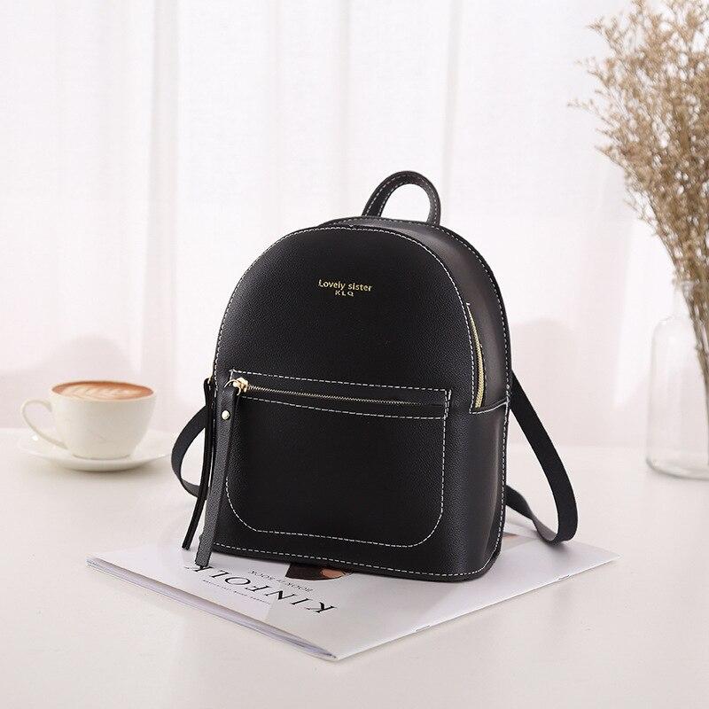 Fanous marca pequena mochila para meninas adolescentes moda casual couro bolsa de ombro das mulheres 2019 mini bagpack pequenos sacos