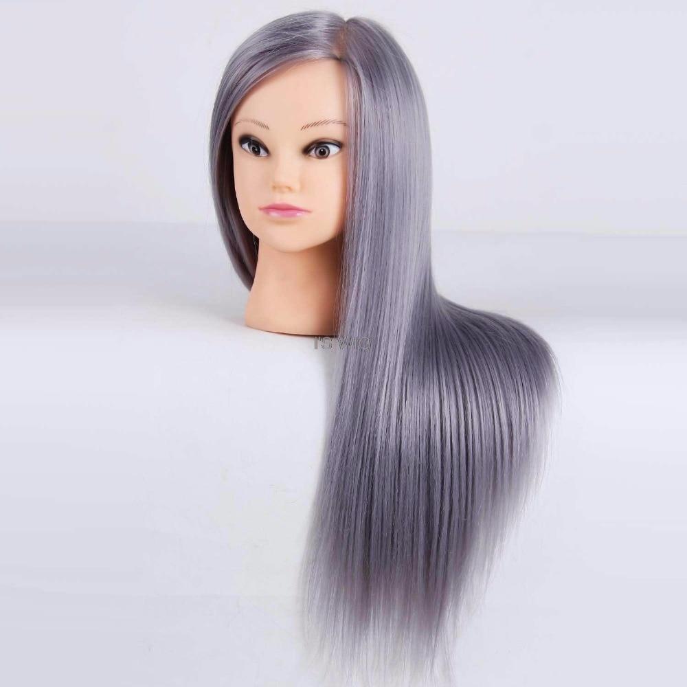 Mannequin de Salon têtes de coiffure Maniqui pratique la coiffure têtes de poupée Maniquies cheveux coupe modèle de coiffure pour coiffeur