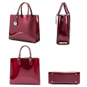 Image 2 - Marca 3 set borse da donna borsa a tracolla femminile in pelle verniciata di alta qualità Tote di lusso + borsa a tracolla a spalla da donna + pochette