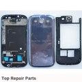 Оригинальный Синий Полный Крышку Корпуса Чехол + Ближний Рамка Рамка + Задняя Крышка Крышка Для Samsung Galaxy S3 i9305