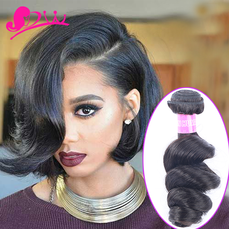 Star Style Human Hair Short Loose Wave Brazilian Virgin Hair
