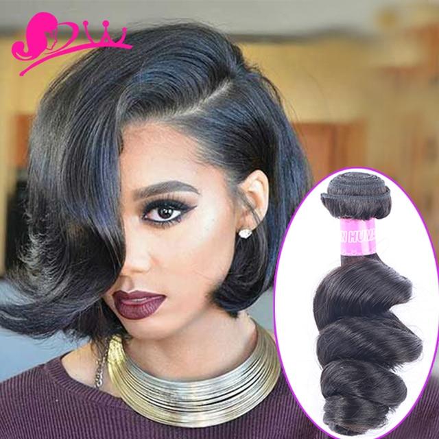 Star Style Human Hair Short Loose Wave Brazilian Virgin 3bundles Remy Weave Bob