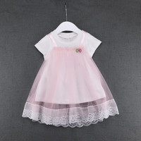 2017 New Fashion Summer Cute Lace Baby Girls Dress Korean Style Princess Clothes Kids Children S
