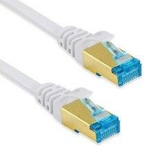 CAT6 Ethernet Lan kablosu RJ45 konektörü wifi kablosuz router Gigabit Lan ağ kablosu düz korumalı bilgisayar yama TV PS3 PS4