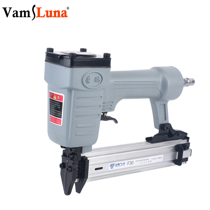 Lightweight Pneumatic Nail Gun Straight Finish Air Nailer For Wooden and Logistics Industry