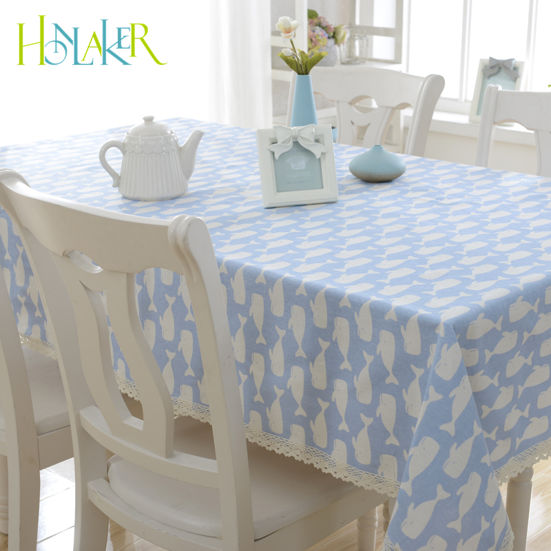 Honlaker Cotton Table Cover Cloth Japanese Pastoral Style Home Coffee Table Restaurant Tablecloth