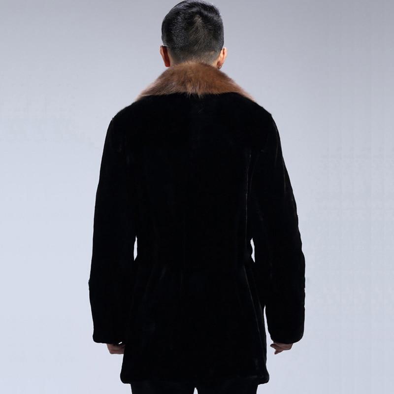 Moyen Hiver 4xl Imitation Fourrure Homme W1166 5xl La Taille Nouveau Noir De 2017 Plus Vison Long Faux Survêtement Veste Occasionnel Manteaux Hommes txtBwUS