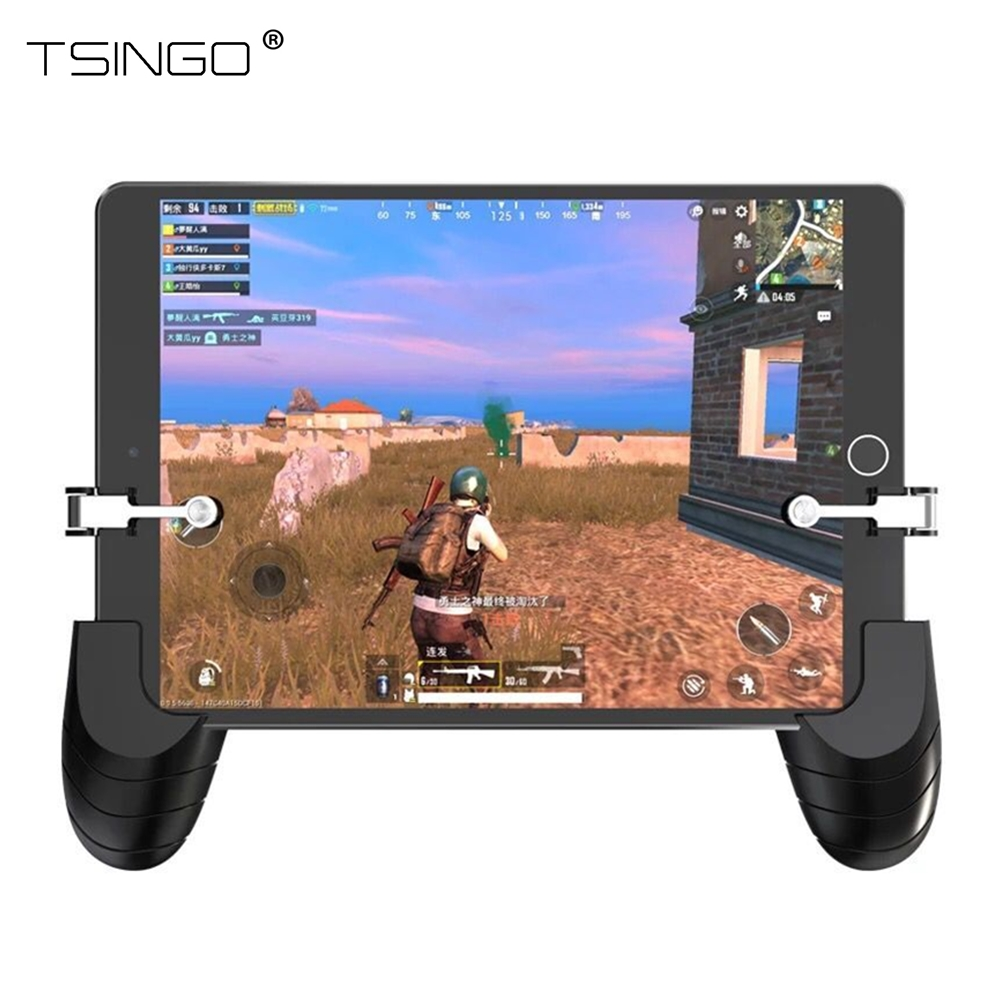 US $6 9 21% OFF TSINGO For PUBG FPS Mobile Game Controller Handle Gamepad  Holder Joystick With L1R1 Trigger Fire Shooter Button Aim Key For iPad-in