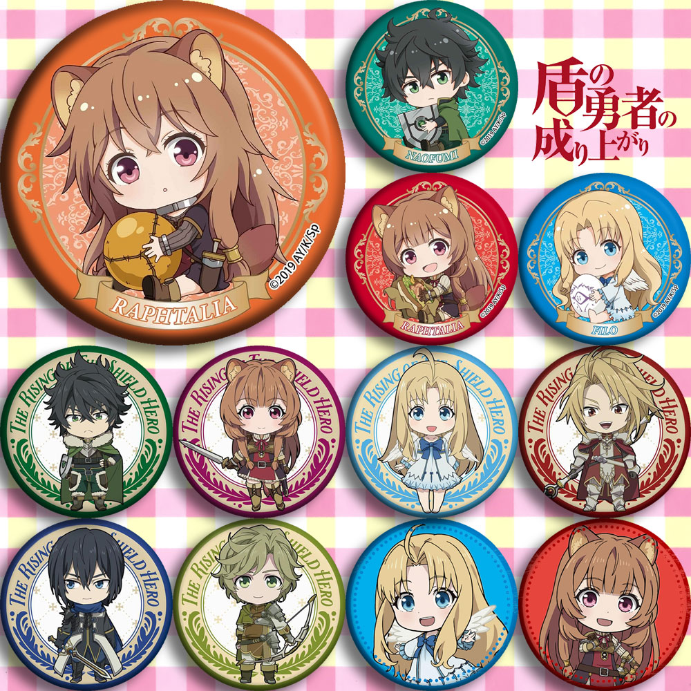 12 Type For Anime The Rising Of The Shield Hero Rafutaria Iwatani Naofumi Sadina Feilo Cosplay Prop Cute Brooch Badge Emblem