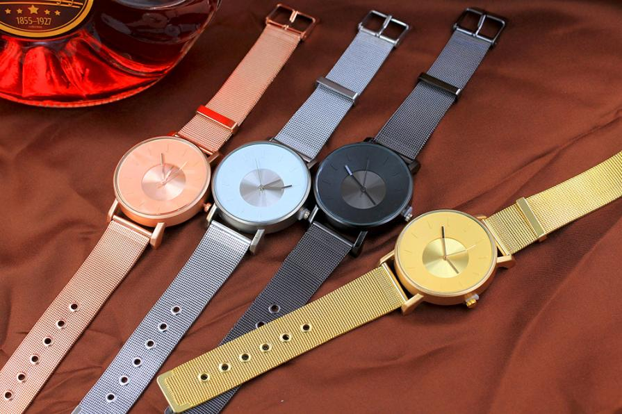 Design Watch For Men Stainless Steel Band Rose Gold Analog Alloy Quartz Wrist Watch relogios masculino hombre Clock new clock gold fashion men watch full gold stainless steel quartz watches wrist watch wholesale kezzi gold watch men k1174