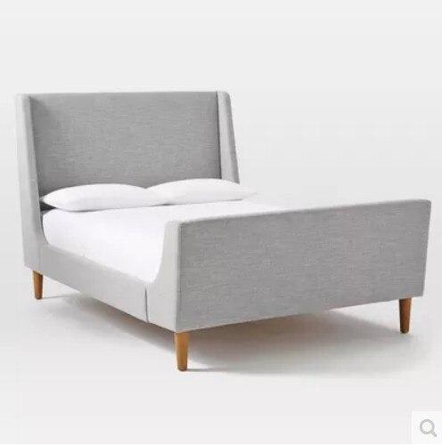 Nordic Amerikanischen Land Stoff Bett Modernen Minimalistischen