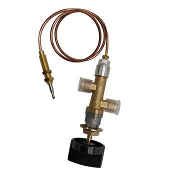 Dispositivo de falla de llama de válvula de control de fuego de gas propano GLP Válvula de calentador de gas con termopar y perilla