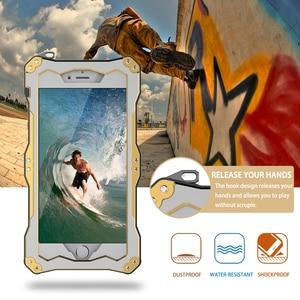 Image 5 - R JUST Gundam Armor Aluminum Metal Cover Case for iPhone 5S SE 6 6s 8 plus 7 8 7Plus X XS Life Waterproof shockproof Phone Cases