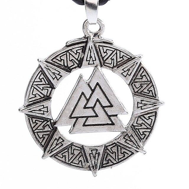 Necklaces Slavic Norway Valknut Pagoda Amulet Pendant Men Necklace Jewelry Scandinavian Viking Odin Is Symbol Of The May3117 2