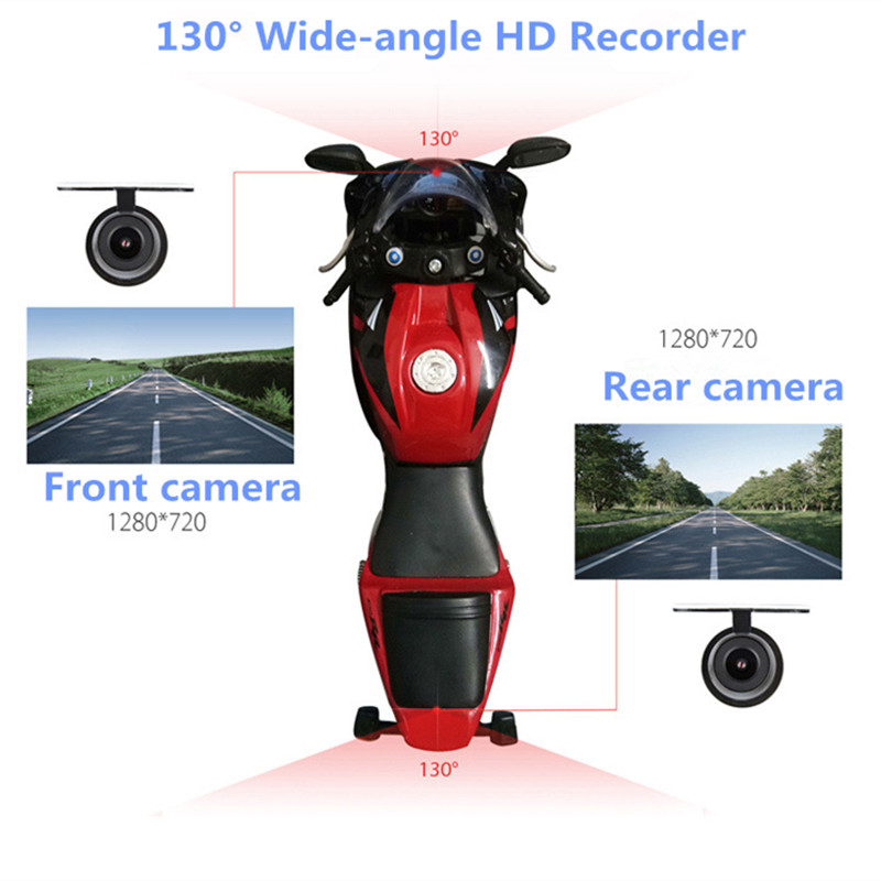 New Hidden Type Motorcycle Driving Recorder Dvr Dashcam Camera Full HD 1080P Video Registrator Dash G sensor Night Vision Cam in DVR Dash Camera from Automobiles Motorcycles