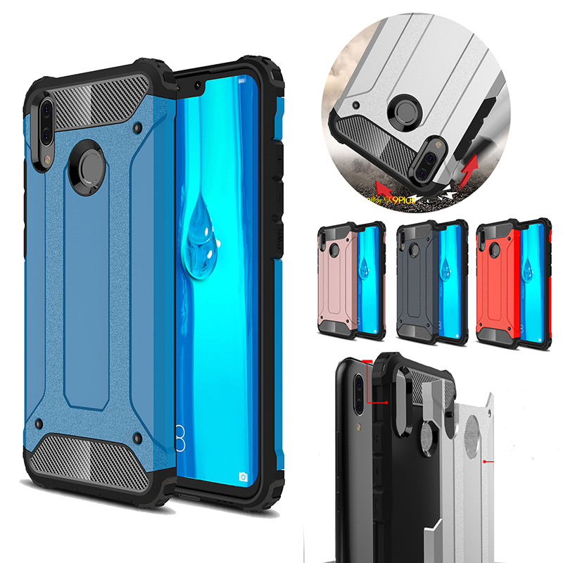 Armor Case For HUAWEI Y9 Y7 Y6 Prime P Smart Plus 2019 2018 Hard PC Tpu Case For Honor 10i 20i 10 20 Ltie P30 Pro Nova 5 5i 4 3i