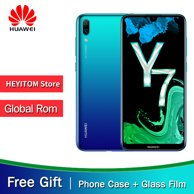 "Original HuaWei Y7 Pro 2019 Enjoy 9 Smartphone 6.26"" Octa Core Android 8.1 4GB RAM 64GB ROM 13MP Cameras Phone"