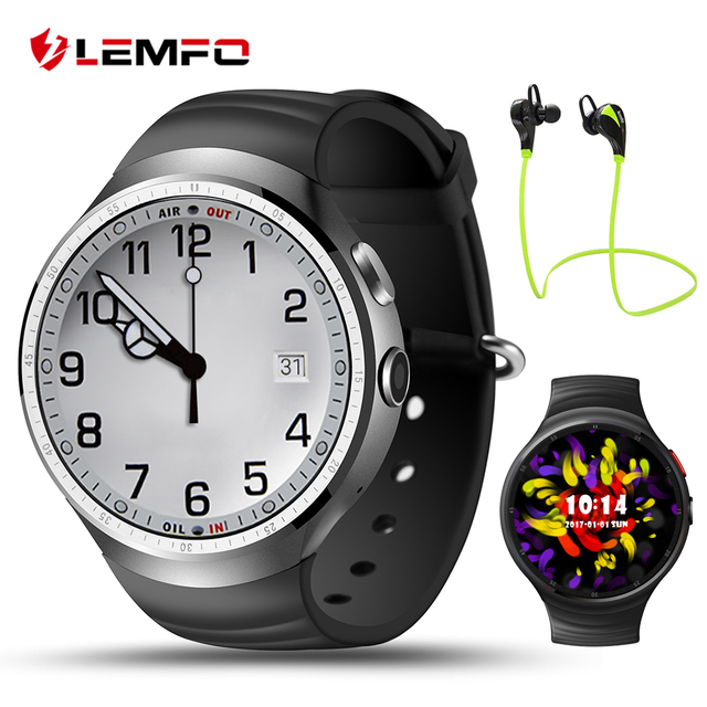 Lemfo LES1 SmartWatch телефон ОС Android 5.1 GPS Смарт часы с 1 ГБ + 16 ГБ GPS Wi-Fi фитнес-трекер Для IOS Android-смартфон