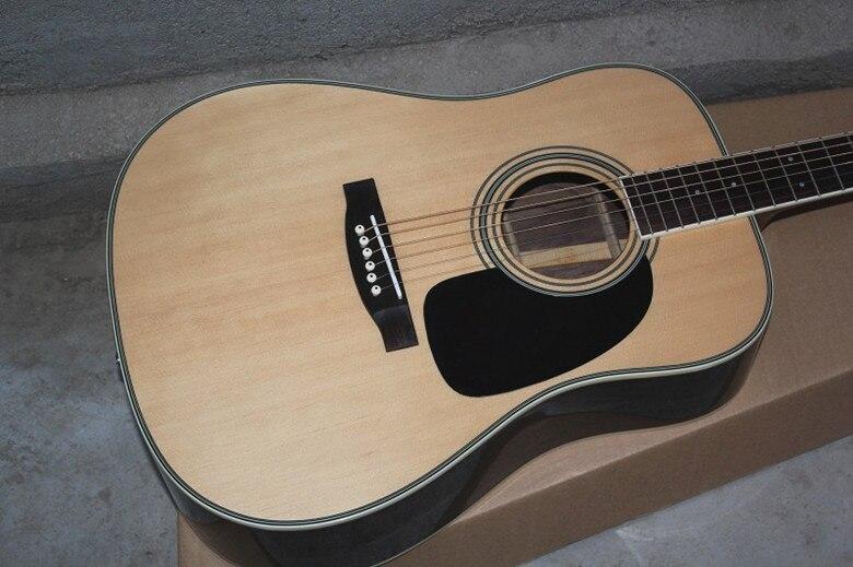 La guitare acoustique naturelle de palissandre de côté arrière d'érable de dessus de poussée solide de 41 ''d'usine peut ajouter le ramassage de Fishman EQ