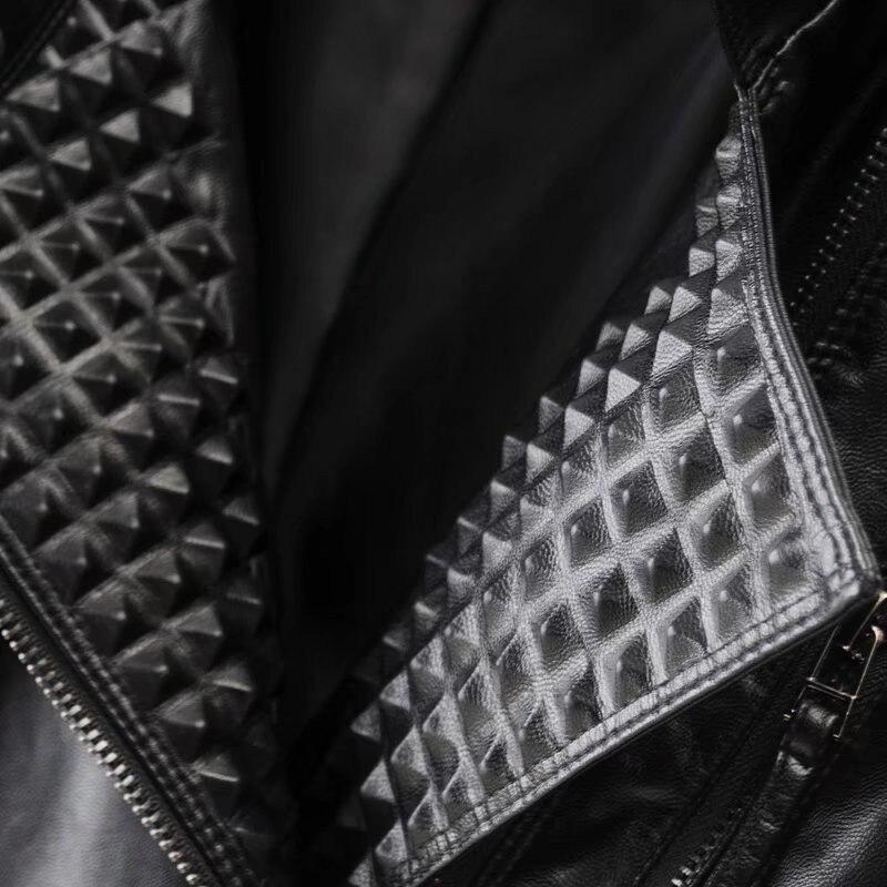 pu Occasionnel Rue Nouveau Automne Et Locomotive Veste bourgogne En Ciel De Femmes Pu Rivet rose Printemps Femmes Noir 2018 Zipper Cuir Mince qgUWycFf7P