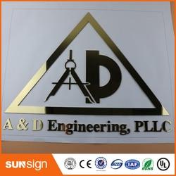 Lasersnijden Fijn Slijpen Customed 3D Metalen Woord Embleem Digitale Figuur Nummer Logo Voor Uw Bedrijf