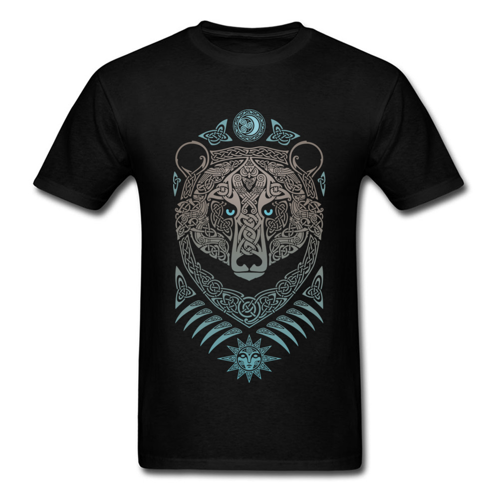 Mens Tops amp Tees FOREST LORD Tshirt Man Tattoo T Shirts Bear Printed On Summer T shirts Thanksgiving Day Cotton Clothing in T Shirts from Men 39 s Clothing