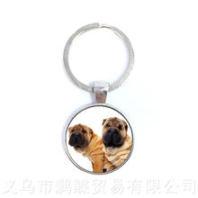 Dog Lover Keychains 25mm Round Glass Dome Animal Handmade Fashion Pendant Creative Gift Personalized Customize Your Beloved Pet(China)