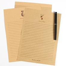 10 uds/lote estilo europeo Vintage diseño de ciervo papel de escritura papelería carta tarjetas de sobres letras Navidad amor letras