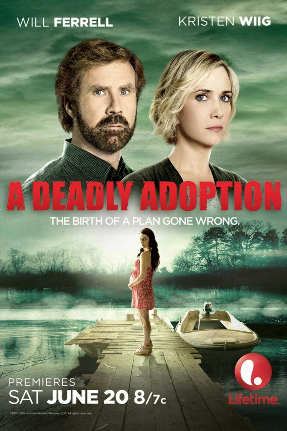 N1709 A DEADLY ADOPTION Movie Will Ferrell Kristen Wiig 2015 Wall Sticker Silk Fabric Poster Art Indoor Decor Bright image