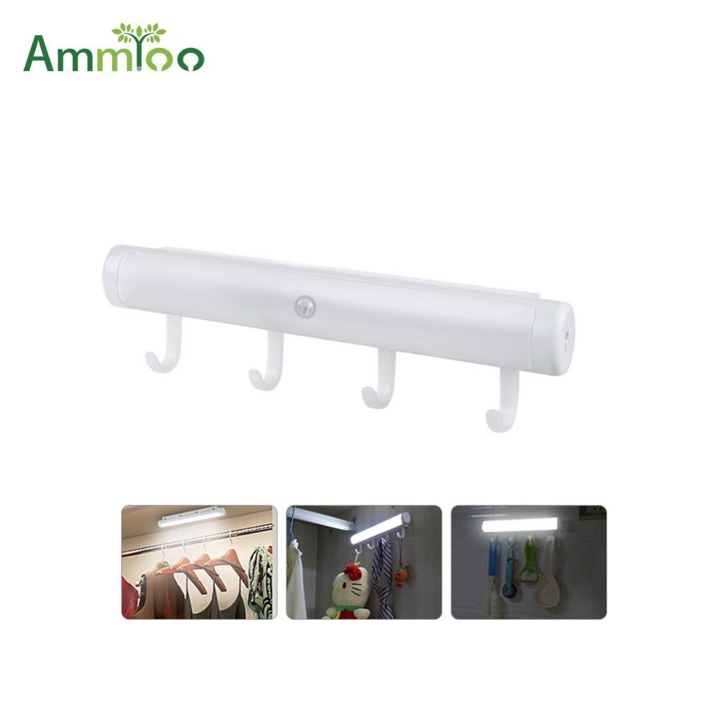 ammtoo motion sensor led bar light bulb battery operated kitchen cabinet light wall lamp. Black Bedroom Furniture Sets. Home Design Ideas