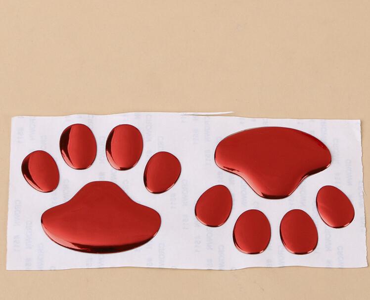 Us 270 50 Paarelos Bär Hundeabdruck Hund Pfote Pvc 3d Auto Aufkleber Abzeichen Emblem Aufkleber Schwarz Rot Gold Silber Großhandel In 50 Paarelos