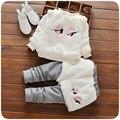 2016 New Arrival Autumn Winter Baby Girls Clothing Set Lovely eyes Newborn Baby Girl Suit 2PCS Long-Sleeve Tops + Skirt Pants