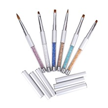 MAKARTT 6PCS Sable Acrylic Gel Brush Pen Set with Roll Up Bag G0166