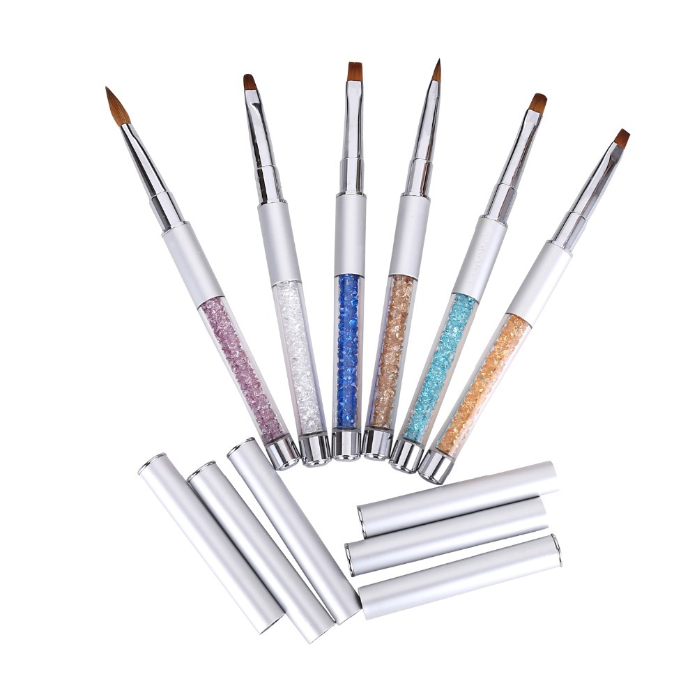 Makartt 6PCS Luxury Sable Acrylic Nail Gel Brush Pen Set