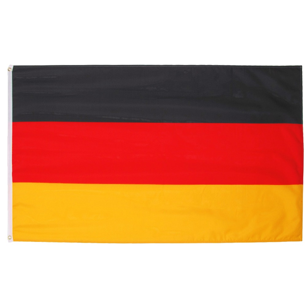 Xiangying 90*150cm black red yellow de deu german <font><b>Deutschland</b></font> germany flag For Decoration image