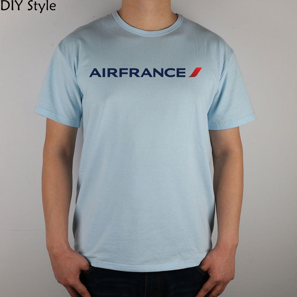 ITA JN AIRFRANCE T-shirt Top Lycra Cotton Men T Shirt New DIY Style