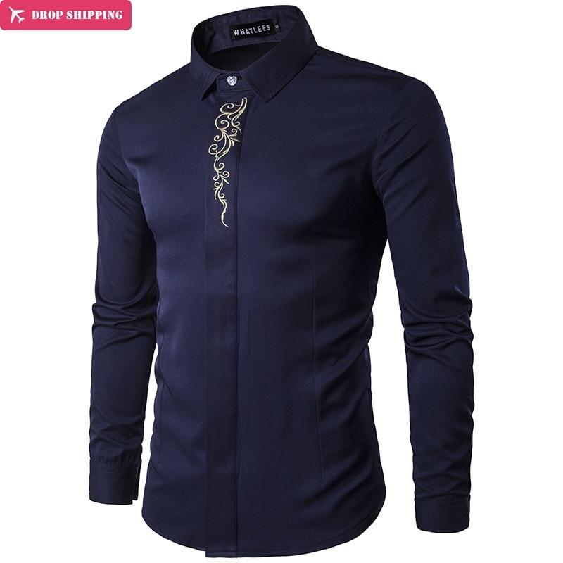6 ColorsMen Uzun Kollu Gömlek Yaz Moda Marka Erkek Giyim Slim Fit Gömlek nakış Erkekler Ekose Pamuk Gömlek Casual camisas