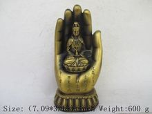 Tibetan Buddhism brass hand in China.Goddess guanyin