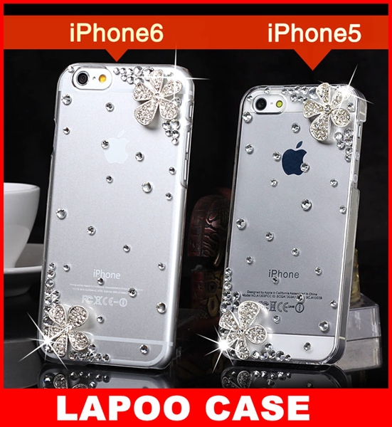 Luxury Rhinestone Crystal Bling Case iPhone 6 4.7 inch iphone6 Diamond Cover New Phone Bags cases - Lapoocase store