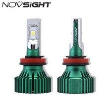 NOVSIGHT H11 автомобиля светодиодный лампы H8 H9 60 Вт 16000LM один луч Auito вождения Туман лампы Белый Противотуманные огни D45