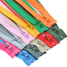 70cm 27.56 inch No.5 resin open tail zippers for clothing high-grade jacket sleeping bag zip tent uniforms colorful zipper