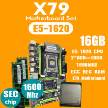 PLEXHD X79 Turbo placa base LGA2011 ATX combos E5 1620 CPU 2 piezas x 8GB = 16GB DDR3 RAM 1600Mhz PC3 12800R PCI-E NVME M.2 SSD(China)