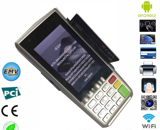 Wireless POS Terminal Support With Magnetic Card/Smart IC Card And NFC Rfid Ic Card Pos Terminal