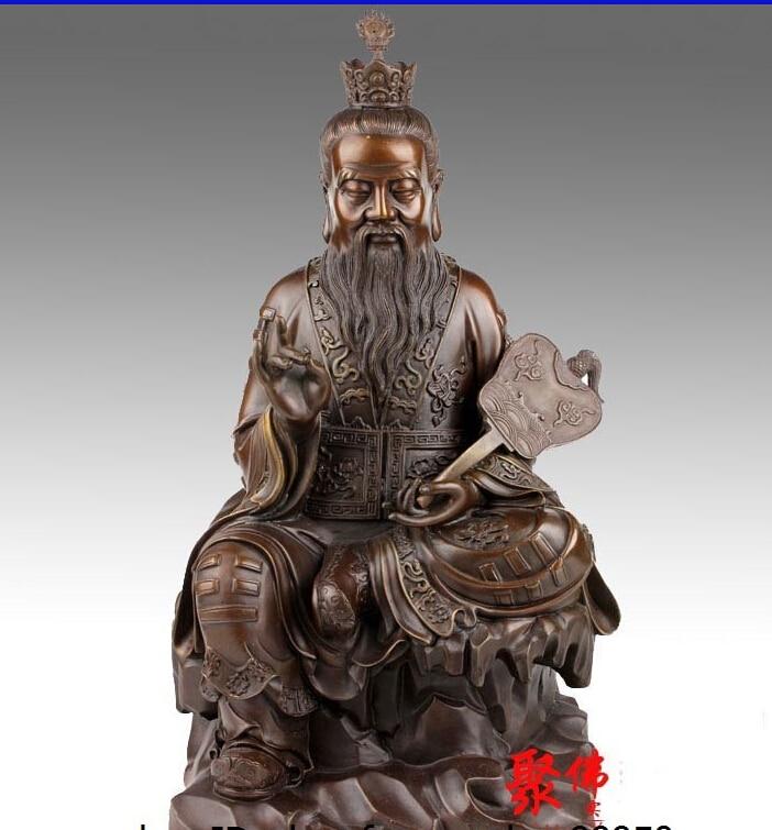 China Taoism Bronze Copper Buddhism the very high lord Buddha Bodhisattva Statue