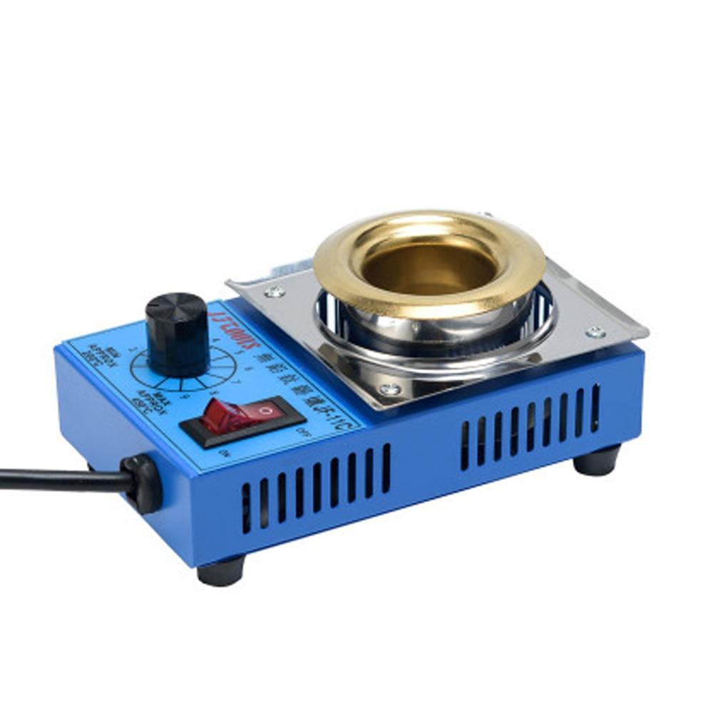 цена на Lead-free Tin Furnace Round Tin Furnace Electric Solder Pot Tin Melting Furnace Thermoregulation Soldering machine