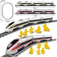 New KAZI City Electric Revival Train Tracks Rail Power Function Technic Creator Building Blocks Bricks Toys For Children