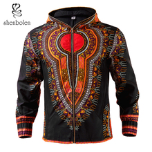 Shenbolen African Mens Jacket dashiki men Clothes hoodie wax fabric Blazer coat High Quality plus size