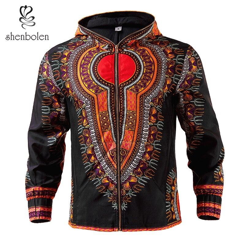 Shenbolen africain hommes veste dashiki hommes vêtements à capuche cire tissu Blazer manteau de haute qualité grande taille